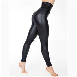 American Apparel Black Faux Leather Leggings High
